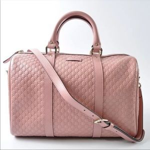 Gucci Pink Boston Leather Satchel bag brand New